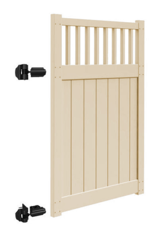 "6'x58"" Chestertown Walk Gate Tan"