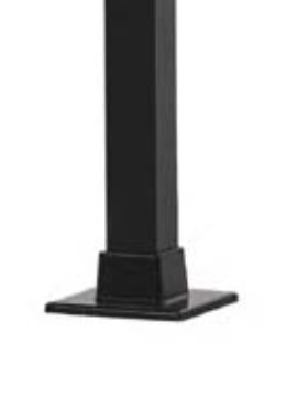 "Posts - 2 1/2"" x 48"" H square with welded flange Black"