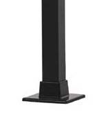 "Posts - 37"" x  1 1/2"" square with welded flange Black"