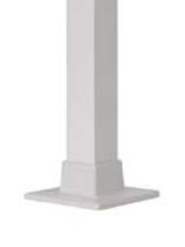 "Posts - 2 1/2"" x 48"" H square with welded flange White"