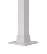 "Posts - 2 1/2"" x 37"" H square with welded flange White"