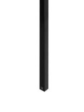 "Installation Spindles 1 pkg/rail 36"" H  Black"