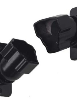 Adjustable Attachment Fitting 1 pkg/rail Black