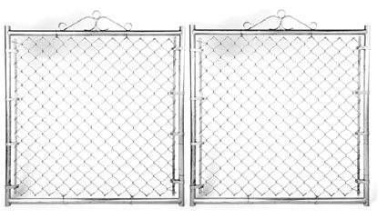 "Residential Double Gate - 10'W X 48""H X 1 3/8"" Galvanized"