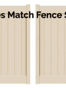 6'H x 10'W Chestertown Double Drive Gate Beige