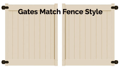 5'H x 10'W Chestertown Double Drive Gate Beige
