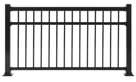 "Fairfield Railing Section - 36""H x 5'W Black"