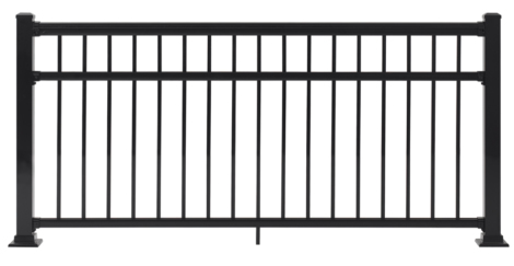 "Fairfield Railing Section - 36""H x 6'W Black"