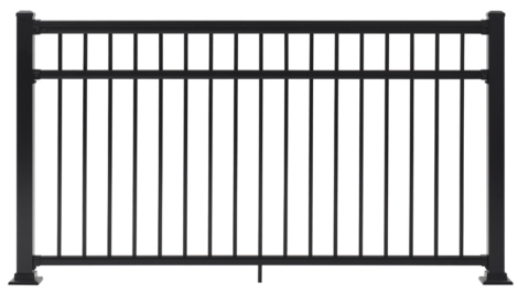 "Fairfield Railing Section - 42""H x 6'W Black"
