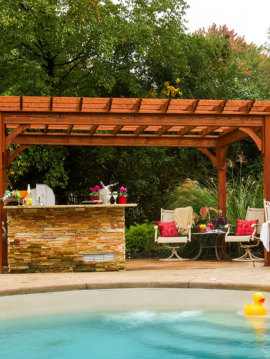 14' x 16' Traditional Pine Wood Pergola CALL FOR FREIGHT RATE
