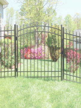 4' H x 6' W Huntington Aluminum Fence Panel Black