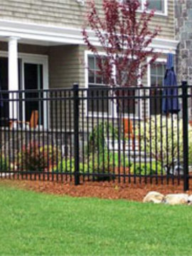 6' H x 8' W M Majestic 3 rail Steel Ornamental Panels Overstocks