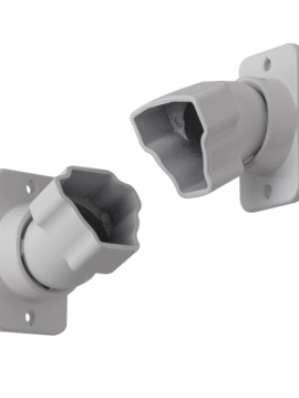 Summit Swivel Fittings 1 pkg/rail White