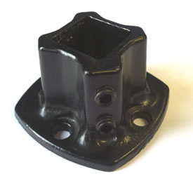 "1 1/4"" Steel Flange Black #579"