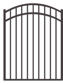 "54"" H x 4'W Bradford Arched Gate Black"