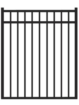"54"" H x 4'W Bradford Straight Gate Black"