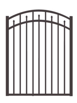 "54"" H x 4'W Clearfield Arched Gate  Black"