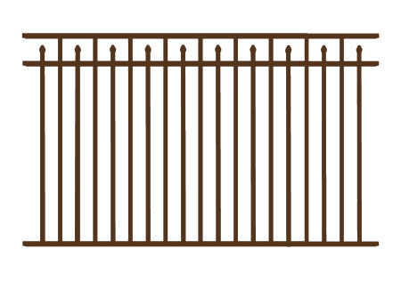 "54"" H x 6' W Clearfield  Aluminum Fence Panel Pewter"