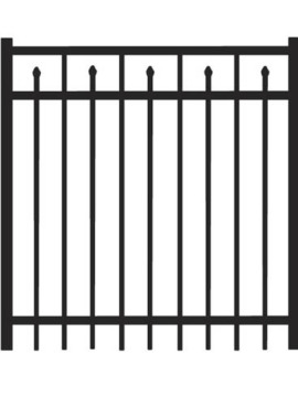 5' H x 4'W Clearfield Straight Gate Black