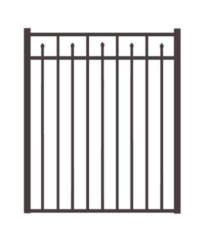 "54"" H x 5'W Clearfield Straight Gate  Black"