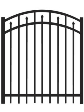 5' H x 4'W Clearfield Arched Gate  Black